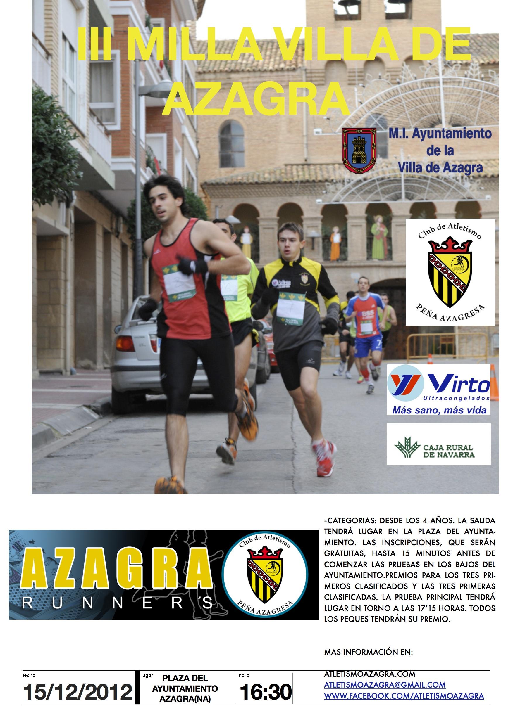 Iv Milla Villa De Azagra Club Atletismo Pe A Azagresa